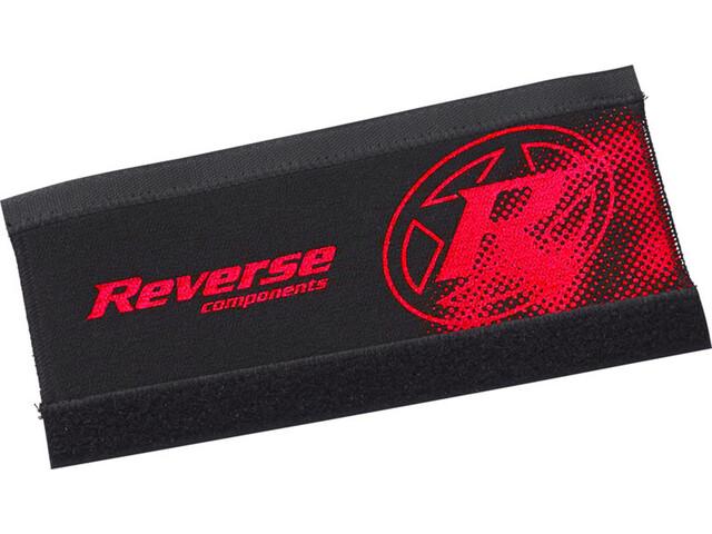Reverse Neoprene Chainstay Guard, black/red